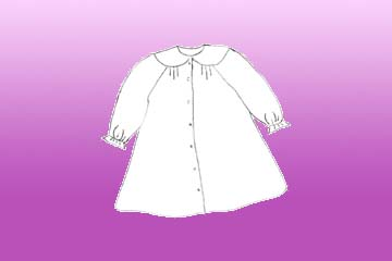 babies marjoram nightgown